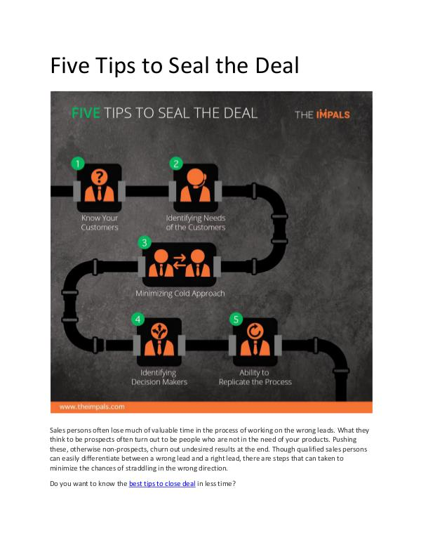 My first Magazine Five Tips to Seal the Deal