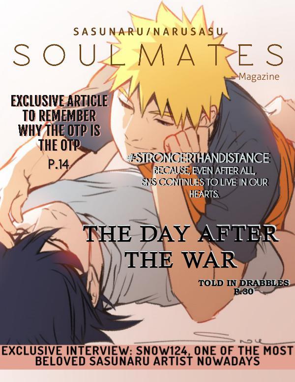 S O U L M A T E S  (SasuNaruSasu Magazine) SOULMATES MAGAZINE N1