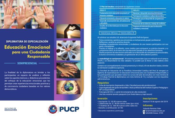 Diplomatura-Educación emocional para una ciudadanía responsable Diplomaturas Especialización Educación emocional