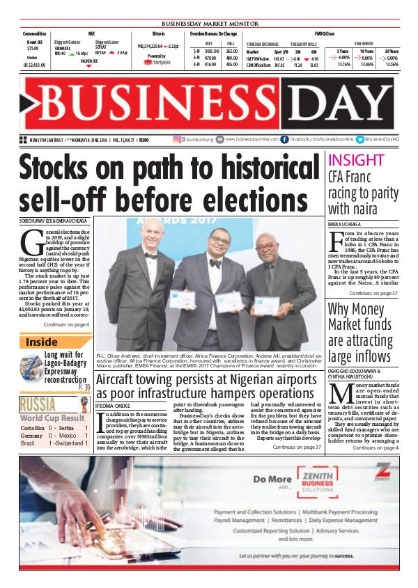 BusinessDay Nigeria BusinessDay 18 Jun 2018