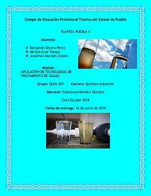 Tecnologías Alternativas Para El Tratamiento De Aguas Residuales.