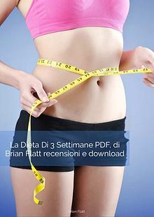 La Dieta Di 3 Settimane PDF, di Brian Flatt recensioni e download