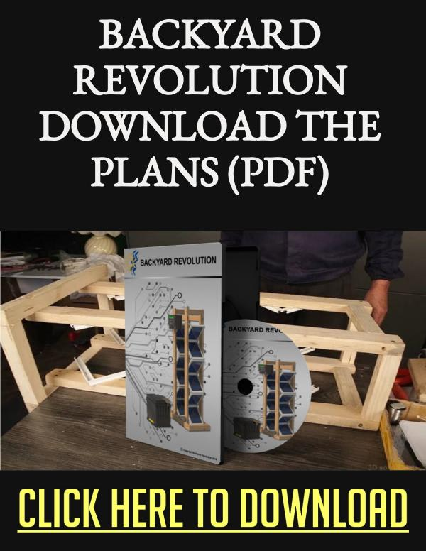 Backyard Revolution Plans PDF Download The Solar Array Project Backyard Revolution Plans PDF Download