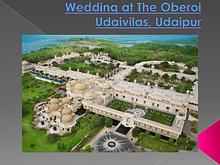 Weddings at The Oberoi Udaivilas