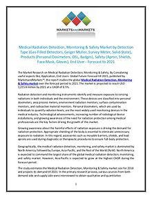 Medical Radiation Detection, Monitoring & Safety Market size 2021