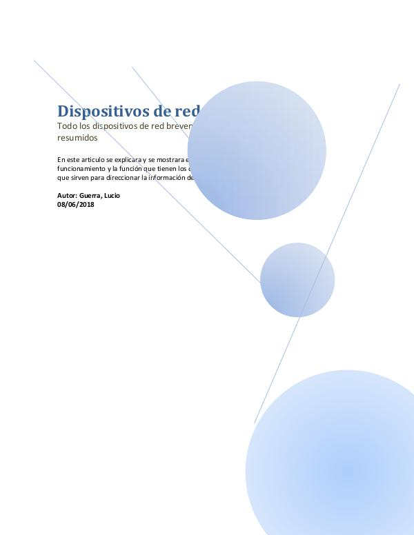 Dispositivos de red Revista