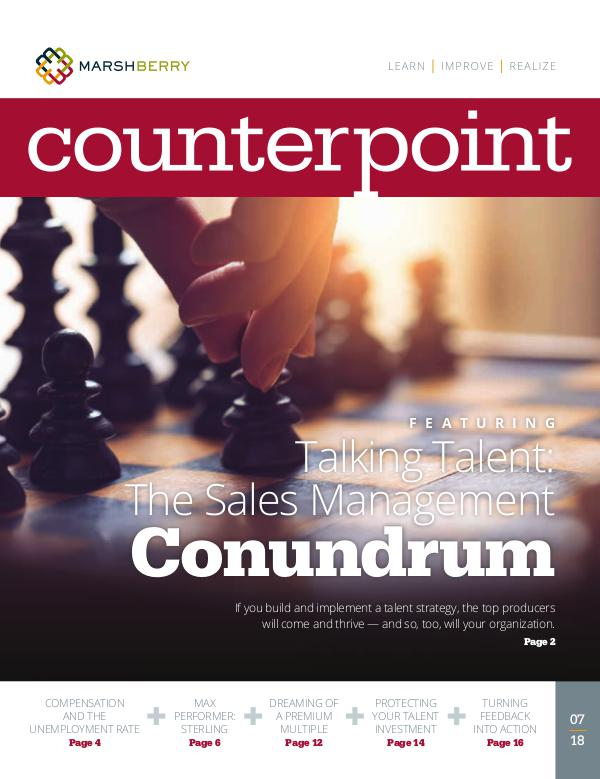 MarshBerry CounterPoint_Talent Mgt - July 2018 MarshBerry CounterPoint_Talent Mgt - July 2018