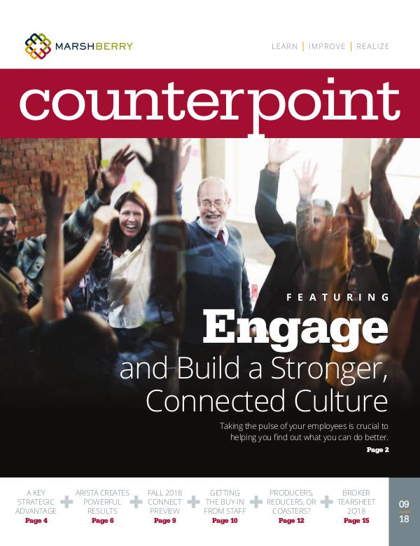 MarshBerry CounterPoint: Engagement - September 2018 MarshBerry CounterPoint_Engagement - Sept 2018