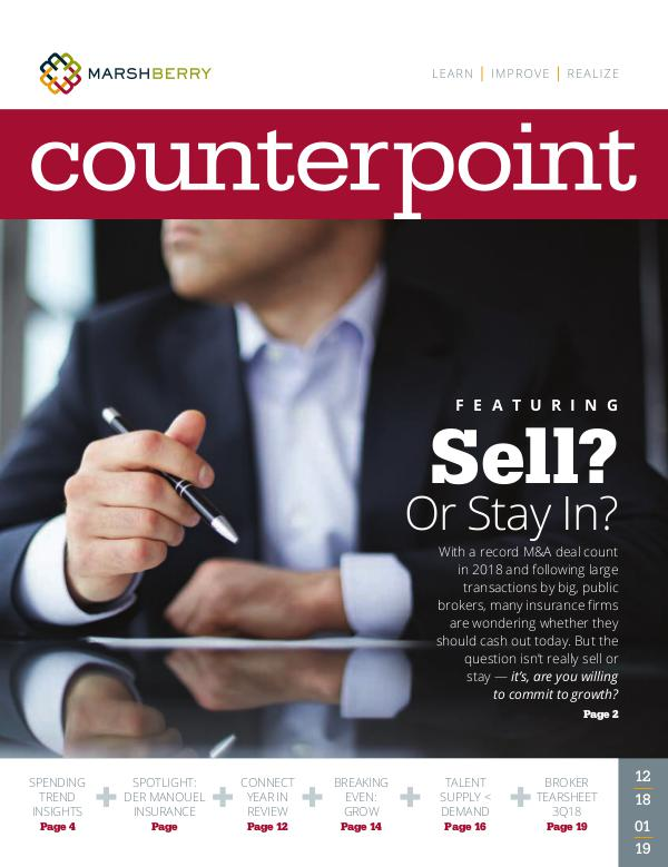 MarshBerry CounterPoint_Sell or Stay In - DECJAN 2019 MarshBerry CounterPoint_Sell or Stay In - DECJAN 2