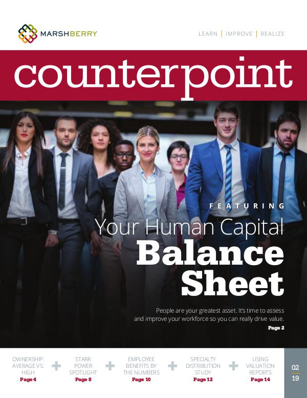 MarshBerry CounterPoint_Human Capital - FEB 2019 MarshBerry CounterPoint_Human Capital - FEB 2019