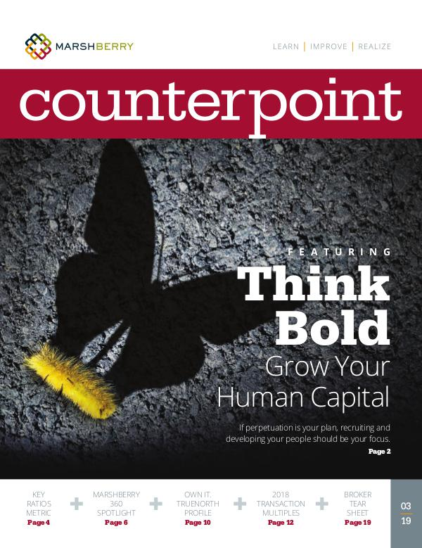 MarshBerry CounterPoint_Think Bold - MAR 2019 MarshBerry CounterPoint_Think Bold - MAR 2019