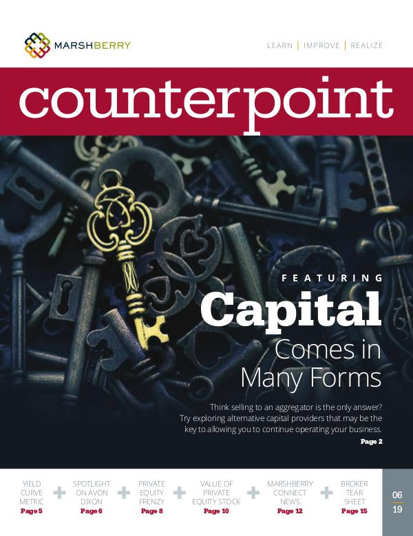 MarshBerry CounterPoint_Capital - JUNE 2019 MarshBerry CounterPoint_Capital - JUNE 2019