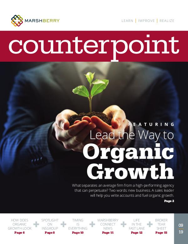 MarshBerry CounterPoint_Organic Growth - SEPT 2019 MarshBerry CounterPoint_Organic Growth - SEPT 2019