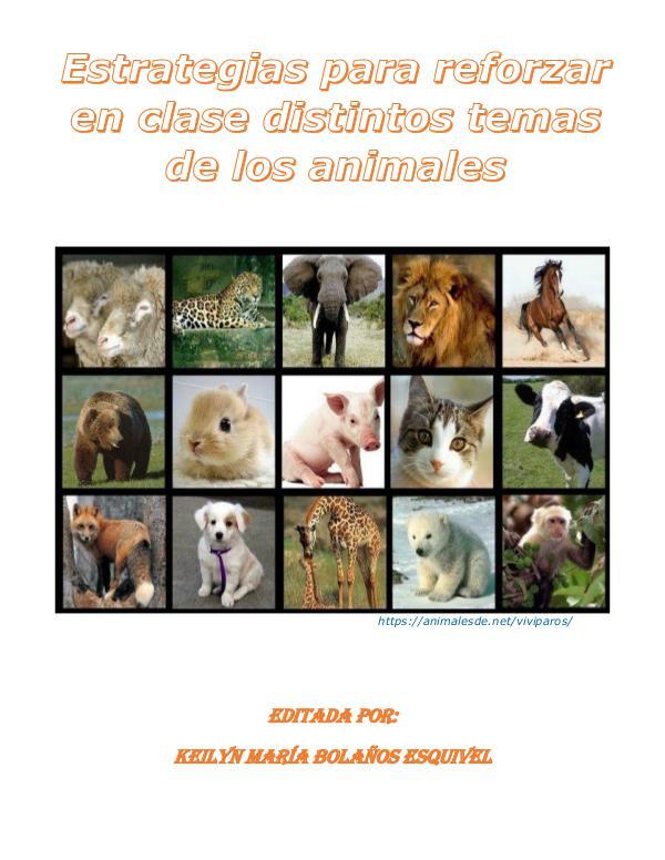 Estrategias para reforzar en clase distintos temas de animales Estrategias para reforzar en clase distintos temas