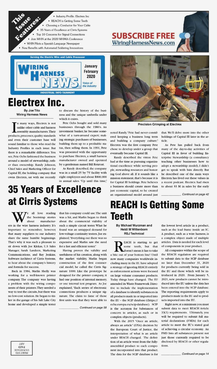 Wiring Harness News WHN Jan-Feb 2020
