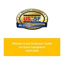 Member Event Producers Guide For Event Compliance 2019-2020