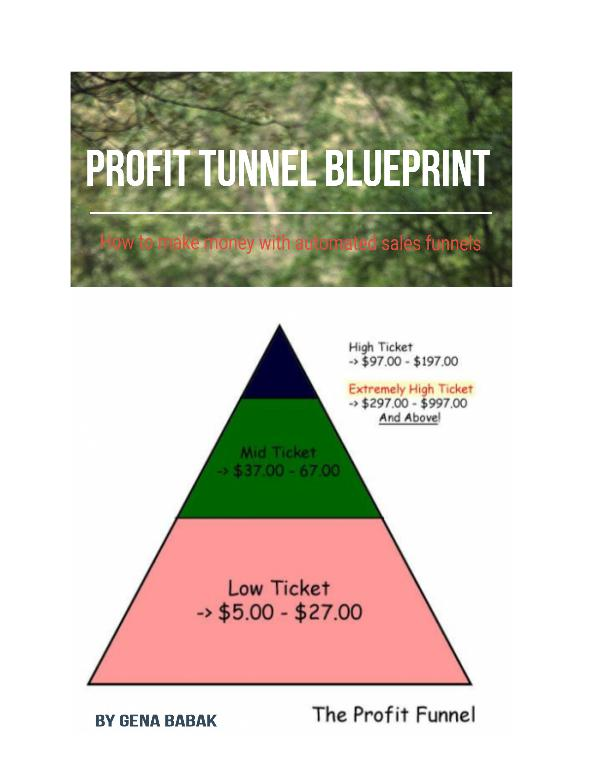 PROFIT TUNNEL BLUEPRINT PROFIT TUNNELS BLUEPRINT