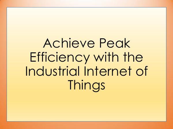 Achieve Peak Efficiency with the Industrial Intern