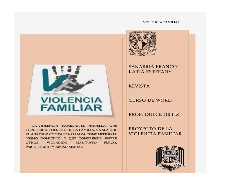 REVISTA VIOLENCIA FAMILIAR PROYECTO FINAL