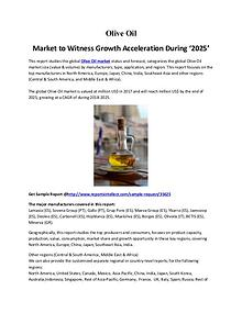 Olive Oil Market to Witness Growth Acceleration During '2025'