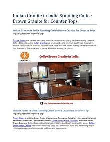 Indian Granite in India Stunning Coffee Brown Granite for Counter Top