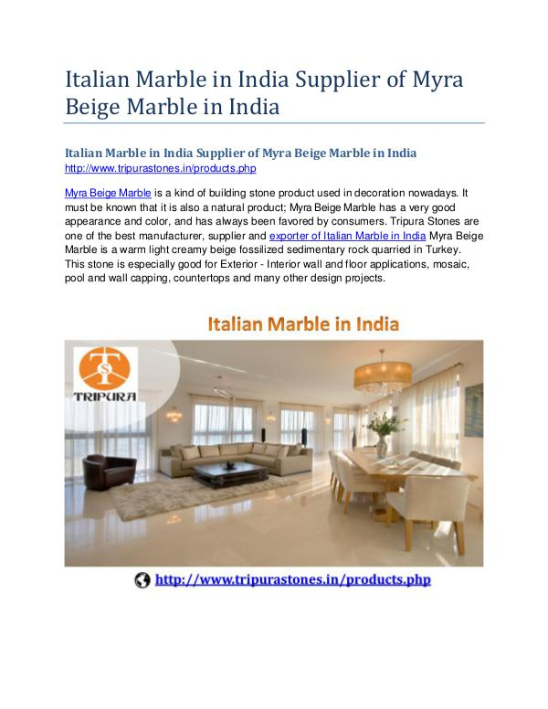 Italian Marble in India Supplier of Myra Beige Marble in India Italian Marble in India Supplier of Myra Beige Mar