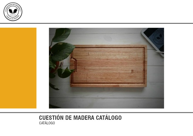 Catálogo Cuestión de Madera Catálogo