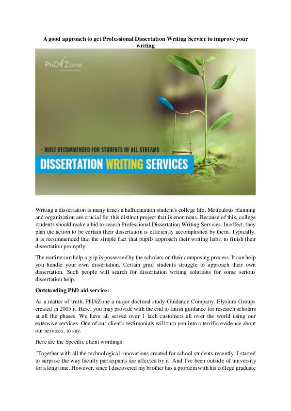 Terrific Benefits of Dissertation Writing Service Reviews Professional Dissertation Writing Service 1