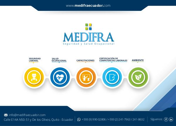MEDIFRA Seguridad y Salud Ocupacional Brochure MEDIFRA GENERAL