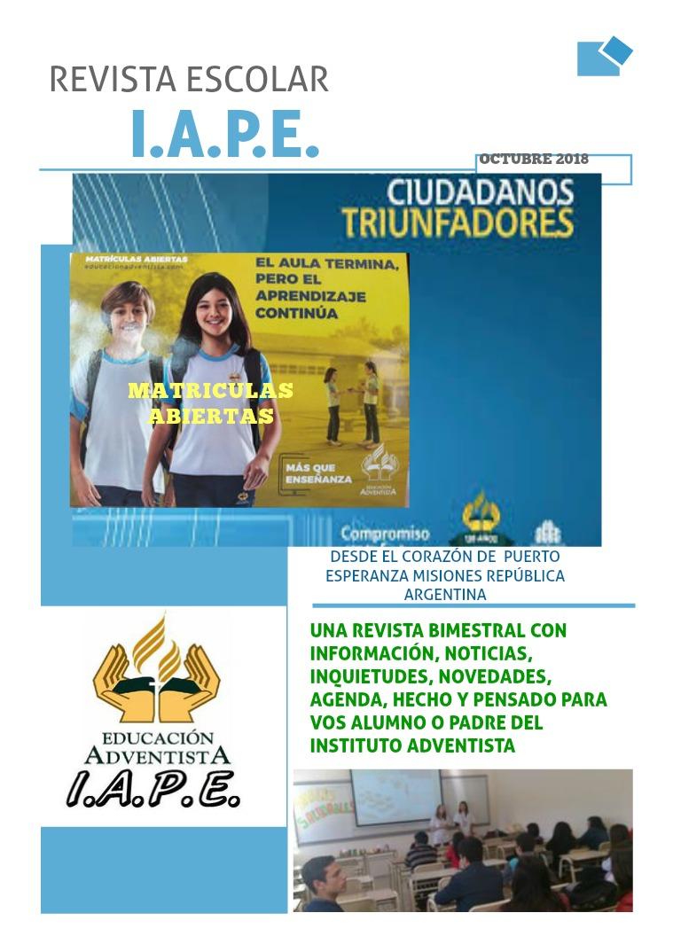 Mi primera revista DEL INSTITUTO ADVENTISTA DE PUERTO ESPERANZA
