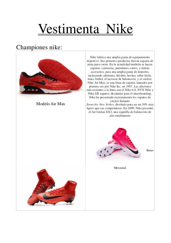 Mi primera revista Vestimenta  Nike