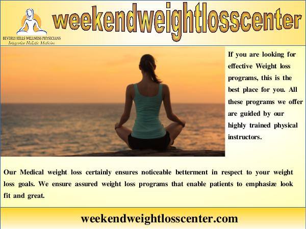 Weight Loss Programs Medical Weight Loss