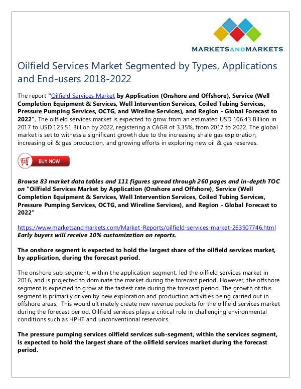 Oilfield Services Market