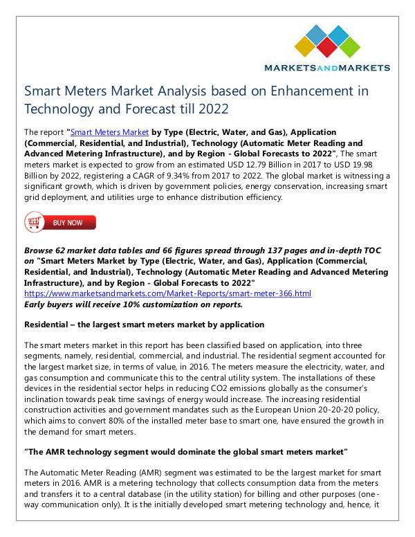 Energy and Power Smart Meters Market
