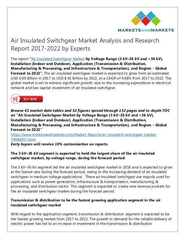 Energy and Power Air Insulated Switchgear Market | Joomag