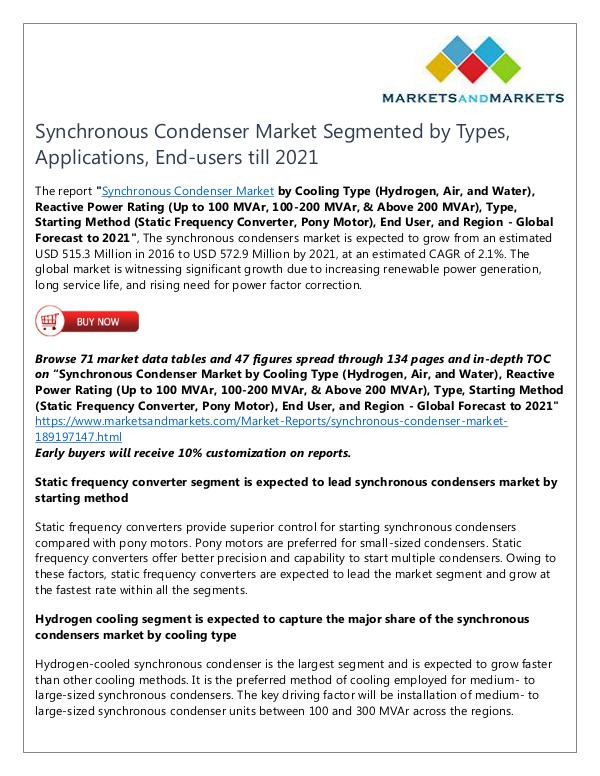 Energy and Power Synchronous Condenser Market