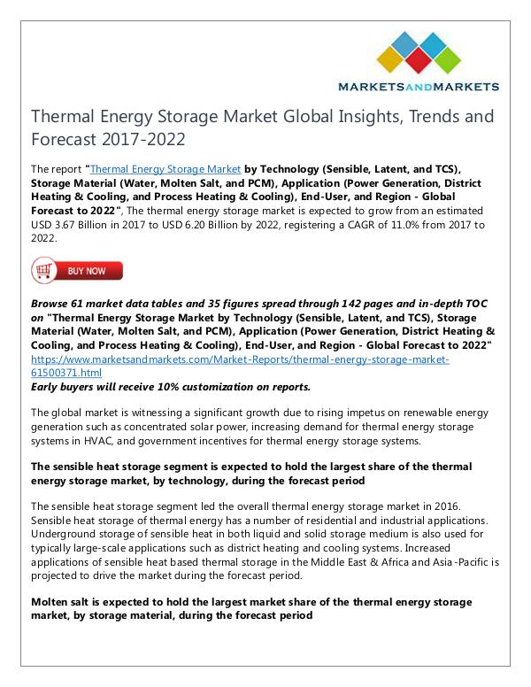 Energy and Power Thermal Energy Storage Market