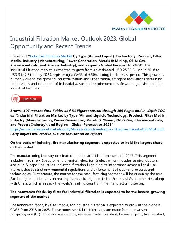 Energy and Power Industrial Filtration Market