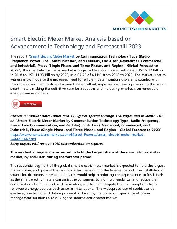 Energy and Power Smart Electric Meter Market