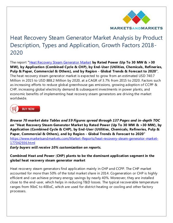 Energy and Power Heat Recovery Steam Generator Market
