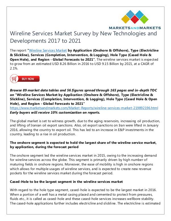 Energy and Power Wireline Services Market