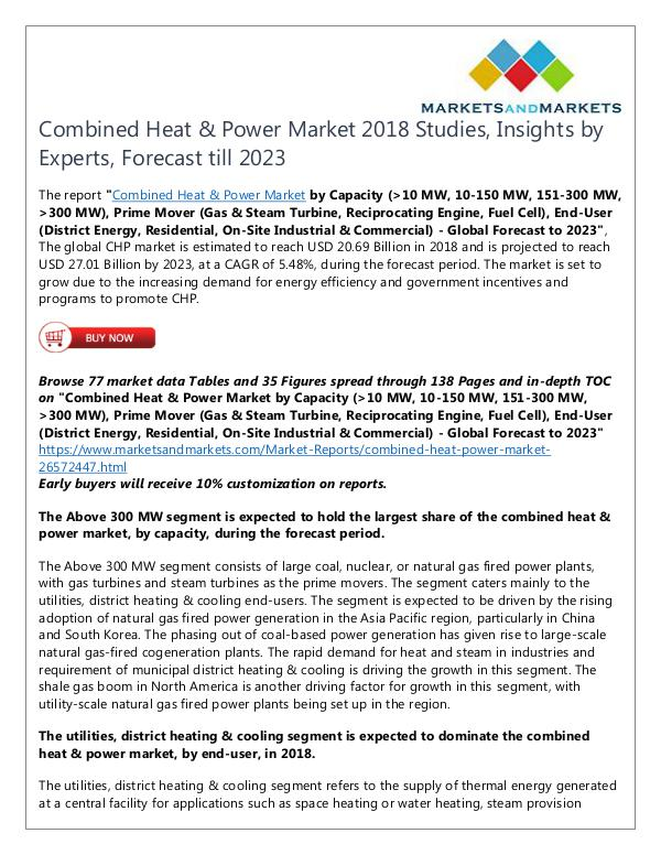 Energy and Power Combined Heat & Power Market