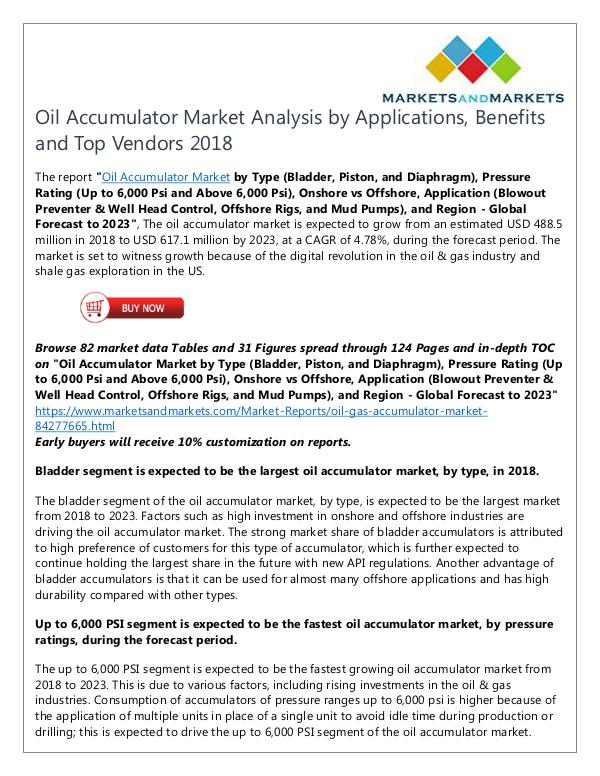 Energy and Power Oil Accumulator Market
