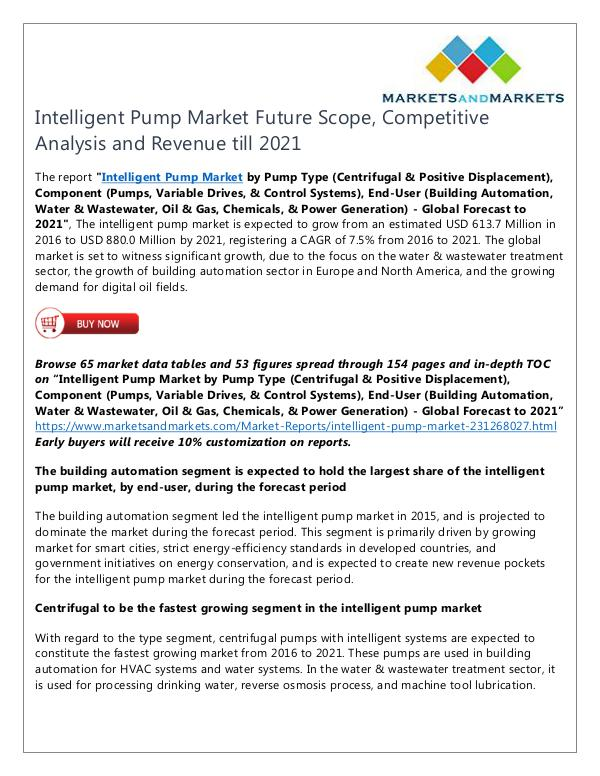Intelligent Pump Market