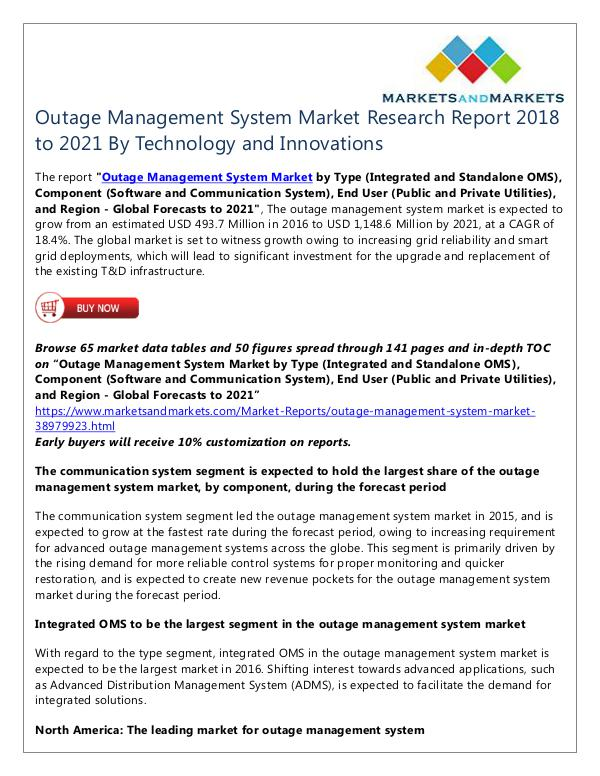 Outage Management System Market
