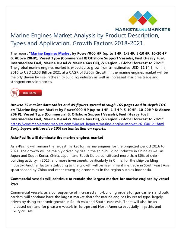 Energy and Power Marine Engines Market