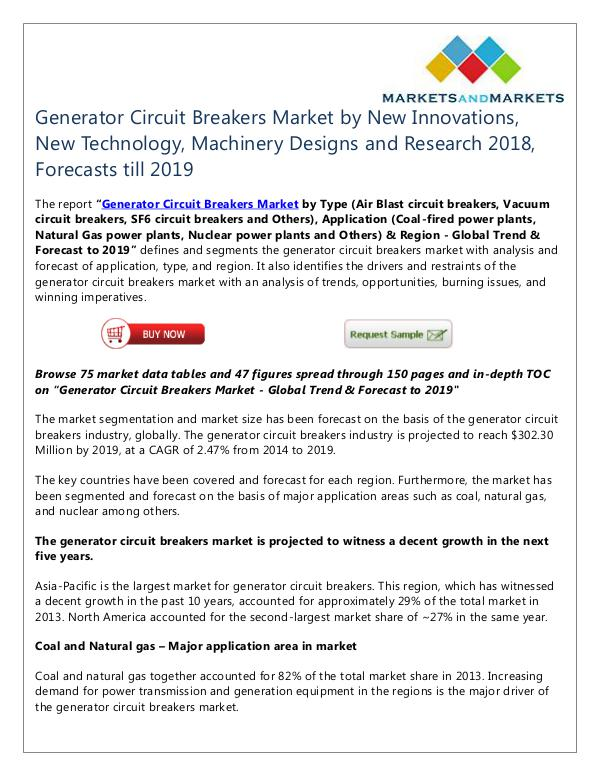 Generator Circuit Breakers Market