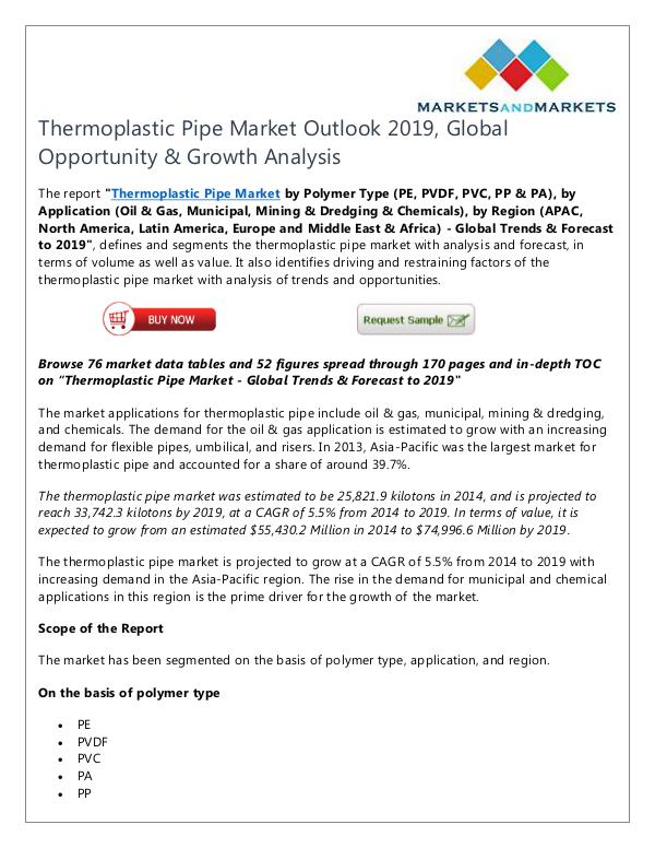 Energy and Power Thermoplastic Pipe Market
