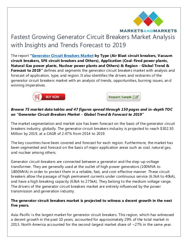 Energy and Power Generator Circuit Breakers Market
