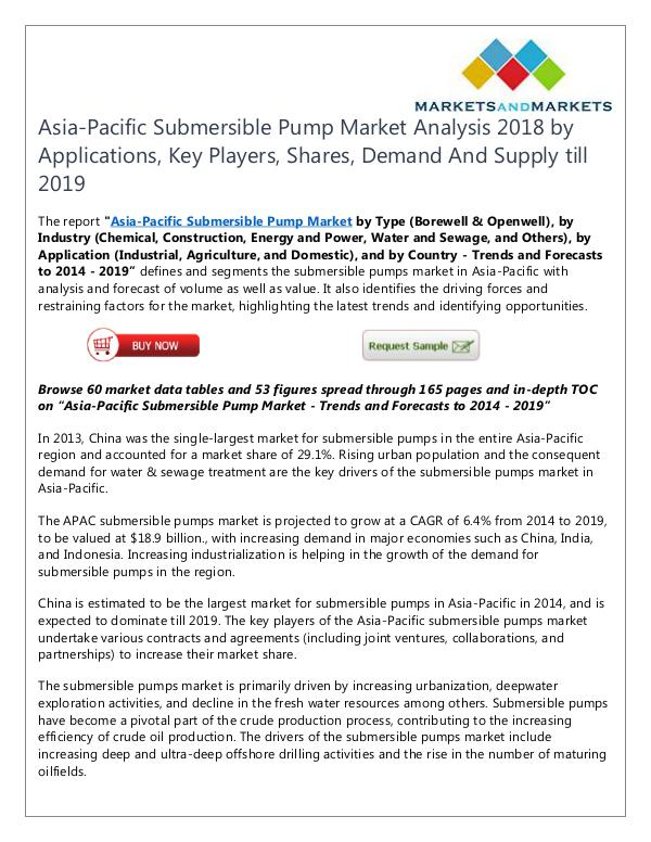 Energy and Power Asia-Pacific Submersible Pump Market
